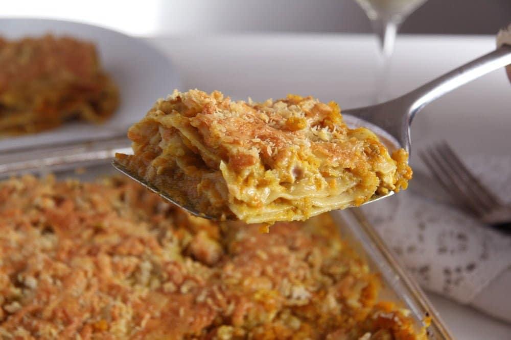 Pumpkin Chicken Curry Lasagna