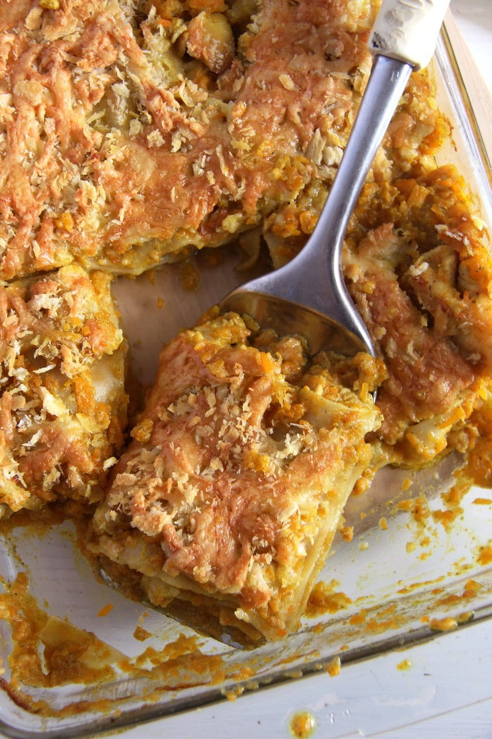 Pumpkin Chicken Curry Lasagna