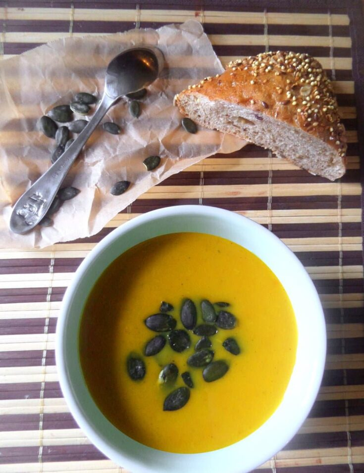 pumpkinsoup 735x956 Easy Pumpkin Soup with Ginger