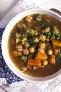 Broccoli Chickpea Soup 2 200x300 Broccoli Chickpea Soup with Sweet Potatoes and Turmeric