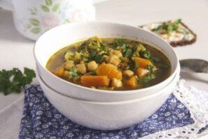 Broccoli Chickpea Soup 3 300x200 Broccoli Chickpea Soup with Sweet Potatoes and Turmeric
