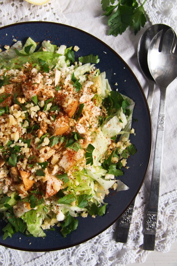 Autumn Pear, Celeriac and Walnut Salad with Cheese