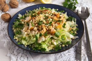 celeriac salad ed 4 300x200 Autumn Pear, Celeriac and Walnut Salad with Cheese