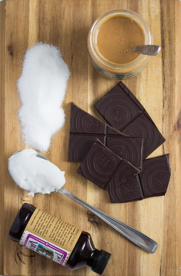 ingredients for chocolate nut butter