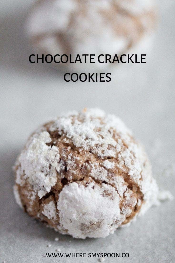 , Chocolate Crackle Cookies