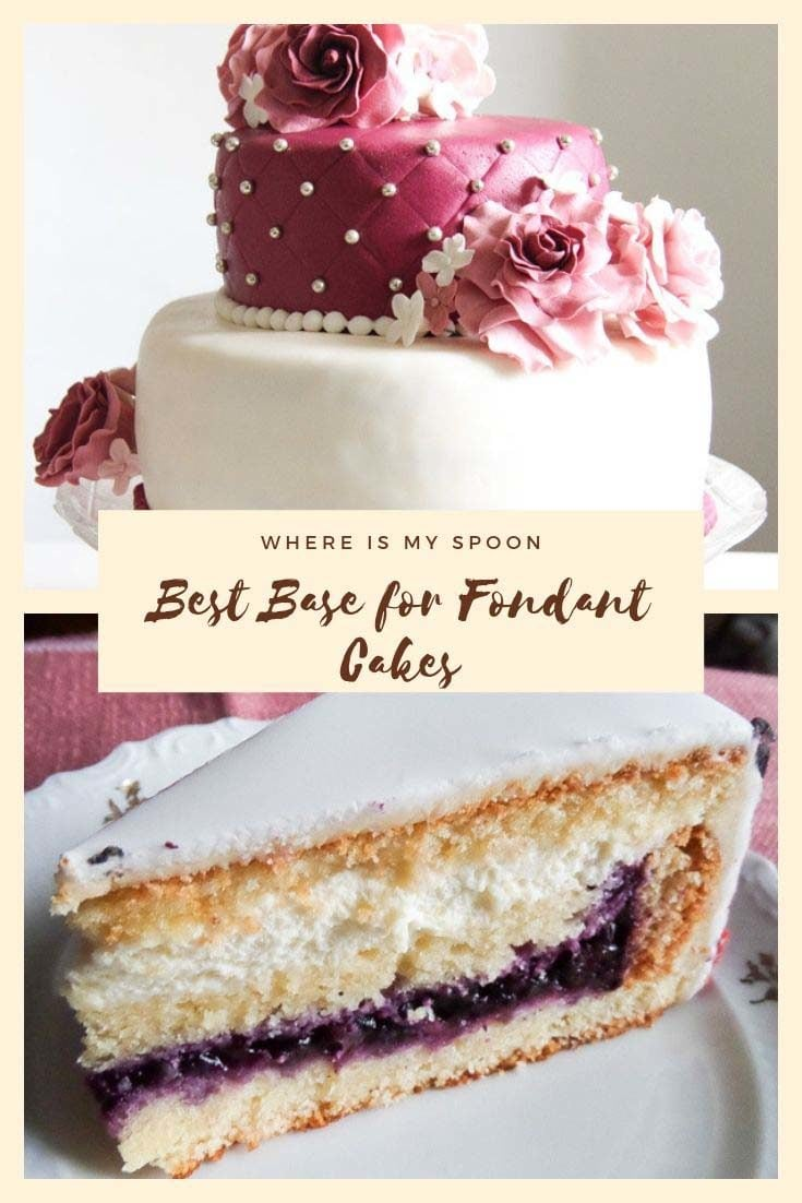 Best tasting, easiest to work with cake for fondant cake recipes. My most used recipe for the base of a cake decorated with fondant. #whereismyspoon #baseforfondantcakes #fondantcakes #cakerecipes #whatcakeunderfondant #workingwithfondant #fondantcakes #cakeforfondant