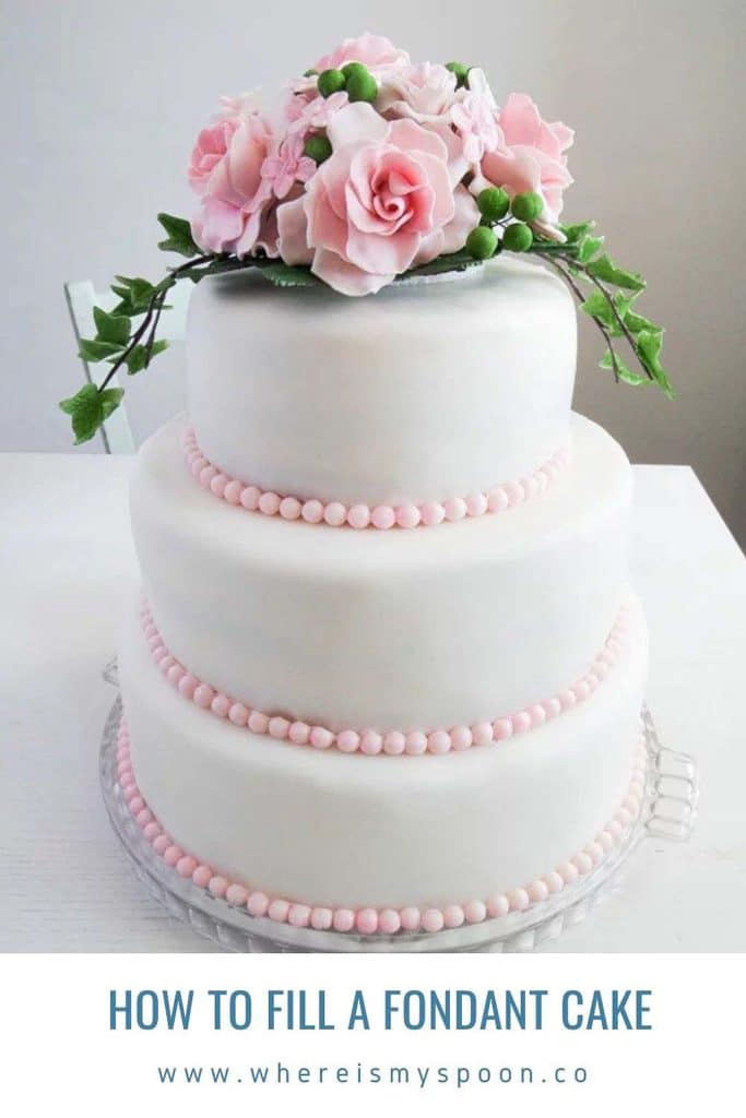 how to fill a fondant cake