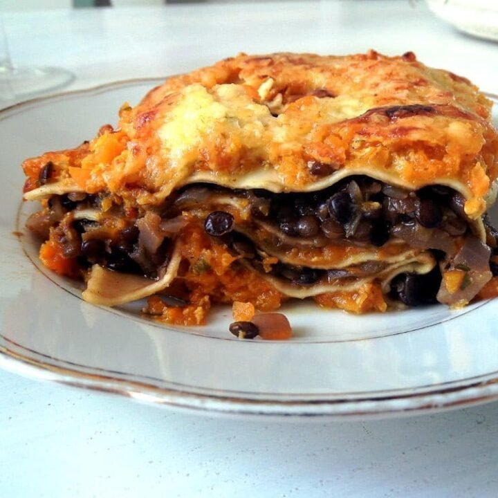 Butternut Squash and Lentil Lasagna