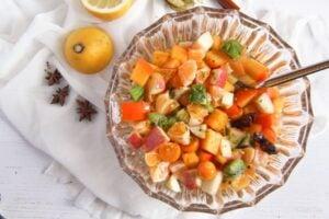 fruit salad 3 300x200 Winter Fruit Salad with Cinnamon Star Anise Dressing