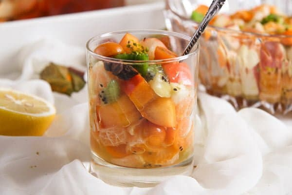 Winter Fruit Salad with Cinnamon Star Anise Dressing