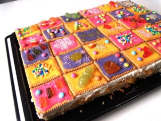 colorful candy cake for kids