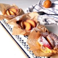 french dessert with yellow plums