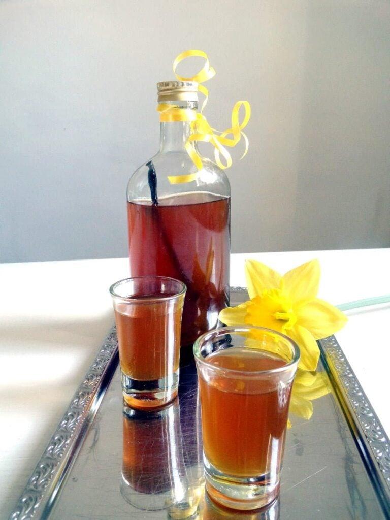 vanilla honey liquor 768x1024 Homemade Crème de Cassis or Black Currant Liquor