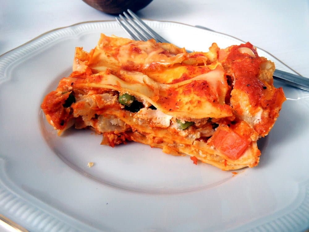 lasagna ricotta roasted vegetables