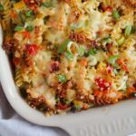 pasta bake with vegetables and ham