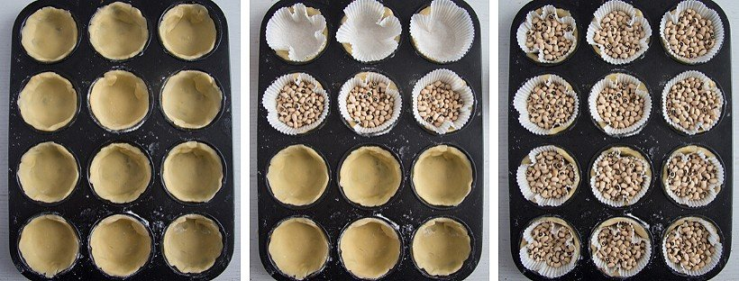 blind bake mini pie shells