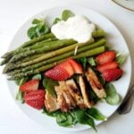 spring salad with chicken 150x150 Spring Salad with Asparagus, Chicken and Strawberries