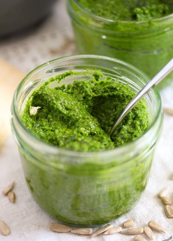 homemade wild garlic pesto