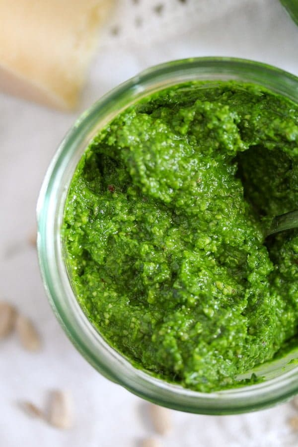 homemade pesto wild garlic