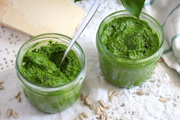 wild garlic sunflower seed pesto