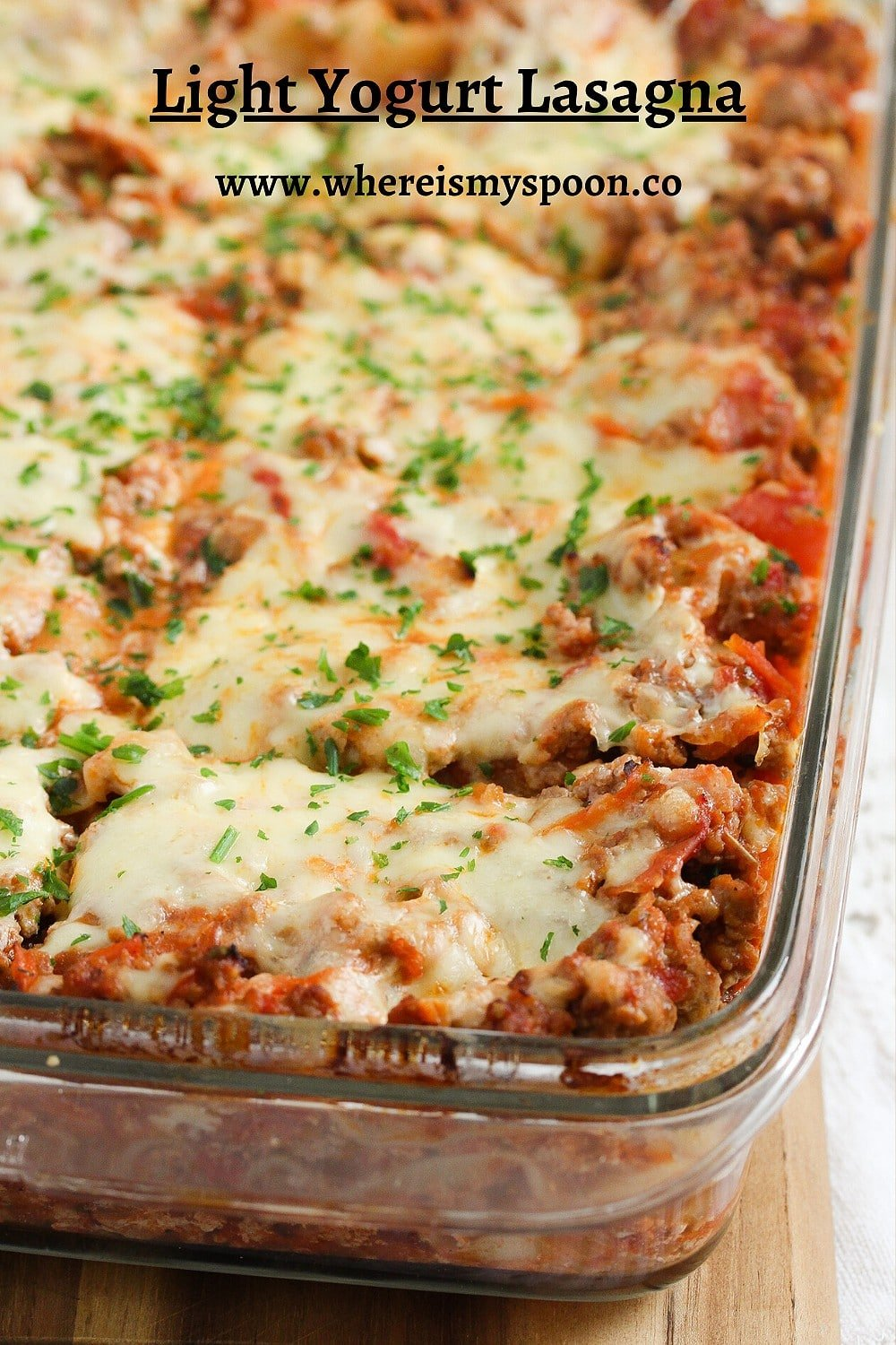 bolognese bake with cheese and beef