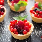 tartlets with berries on a table