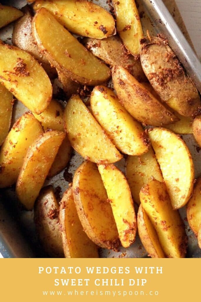 roasted potatoes with sweet chili dip