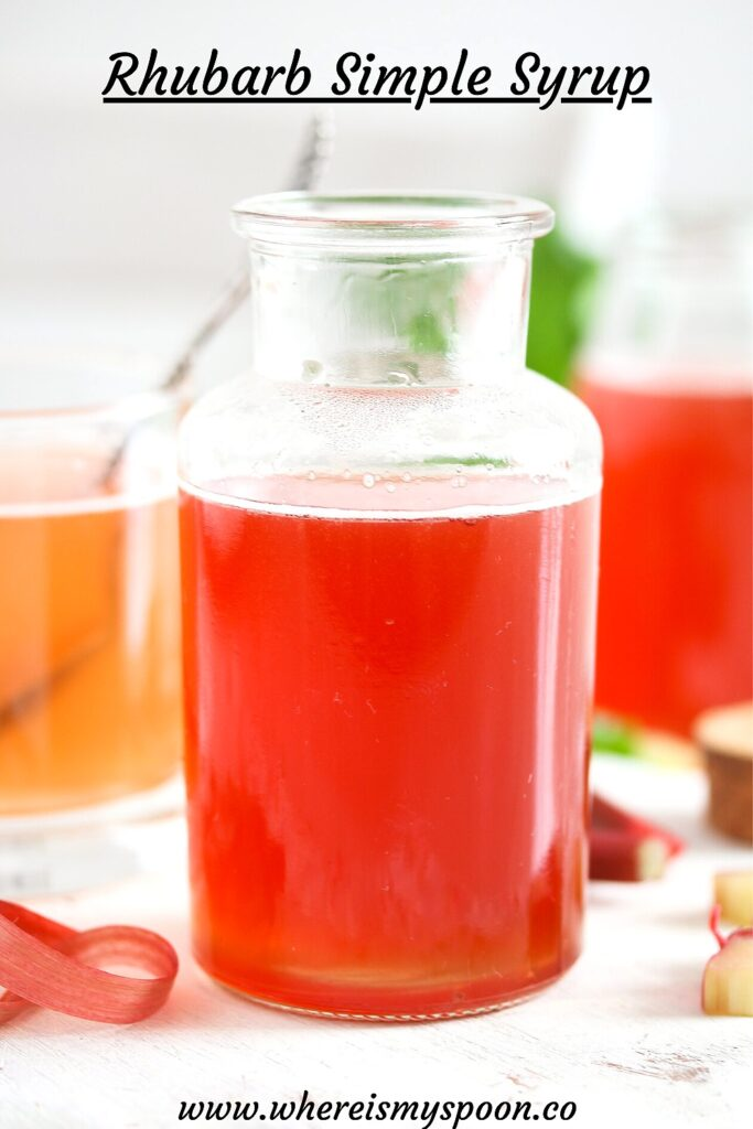 ruby syrup in a small bottle