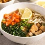 tofu noodles soup 4 150x150 Soba Noodles Tofu Soup with Limes, Carrots and Kale