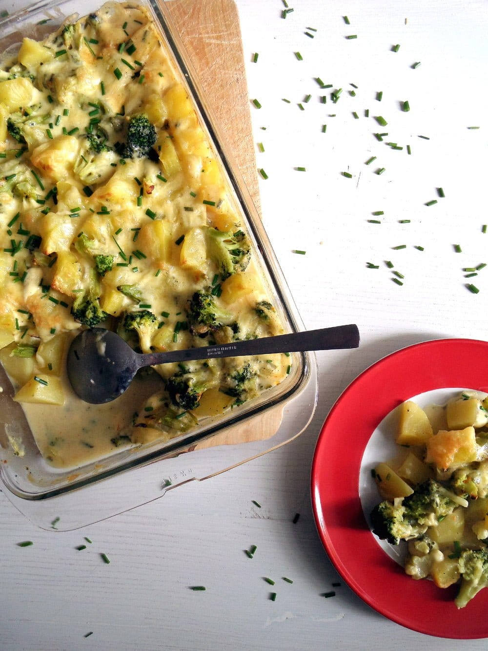 skinny potato broccoli cass Skinny Broccoli Potato Casserole