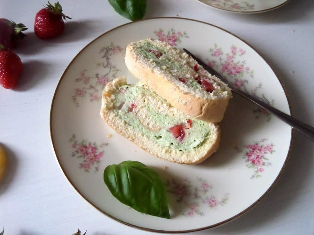 strawberry basil cake 10 Cakes to Bake for Mothers Day