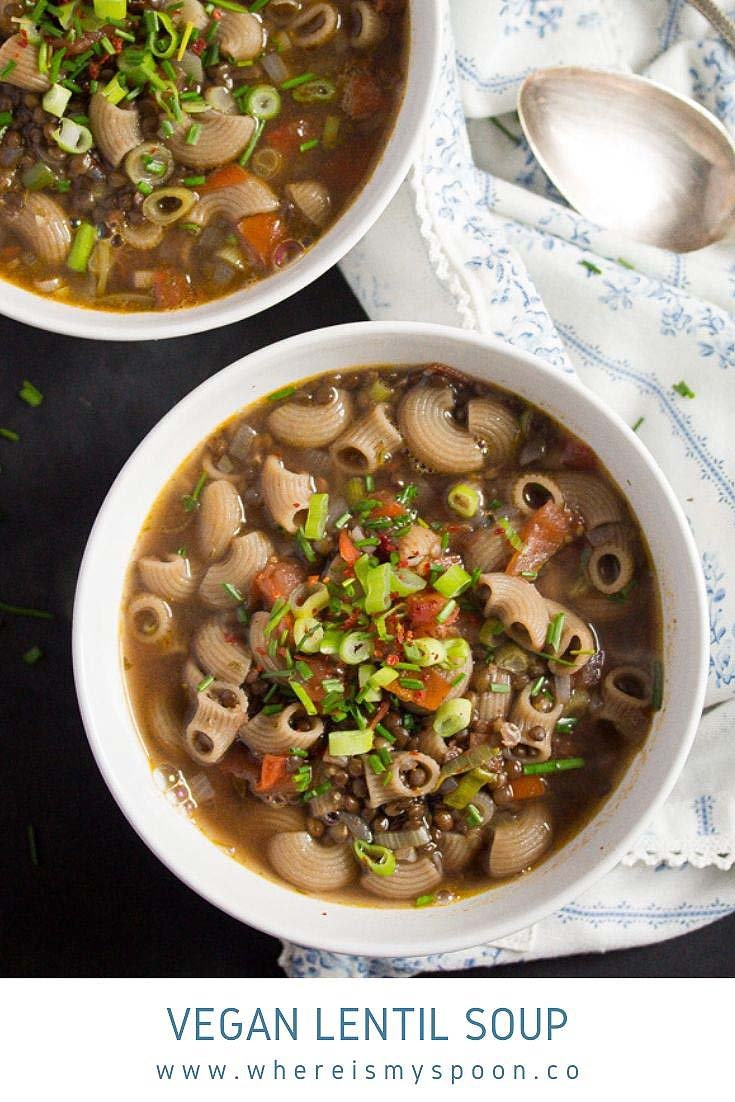 vegan lentil soup Vegan Lentil Soup