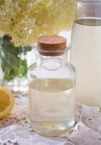 elderflower syrup 15 209x300 Homemade Elderflower Syrup or Elderflower Cordial