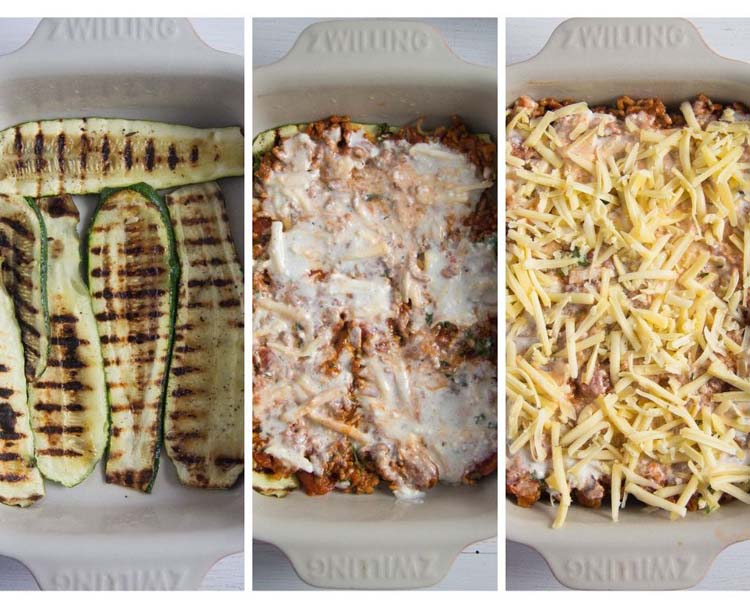 how to make low carb zucchini lasagna
