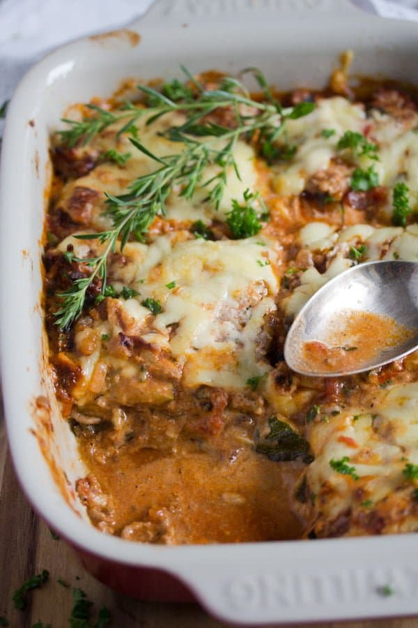 low carb zucchini lasagna 10 Low Carb Zucchini Lasagna – No Noodle