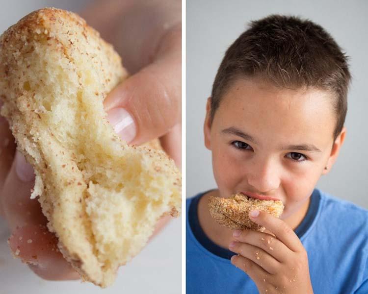 slice of yeast cake or monkey bread