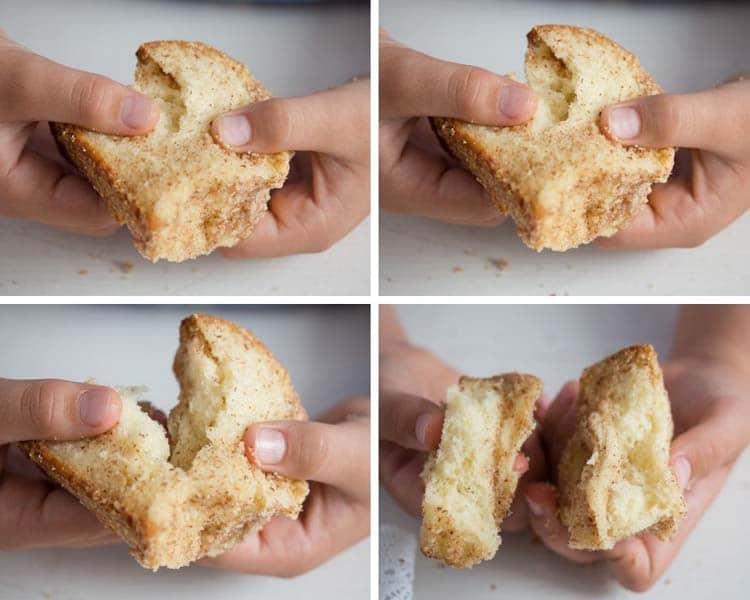 soft slice of yeast cake monkey bread