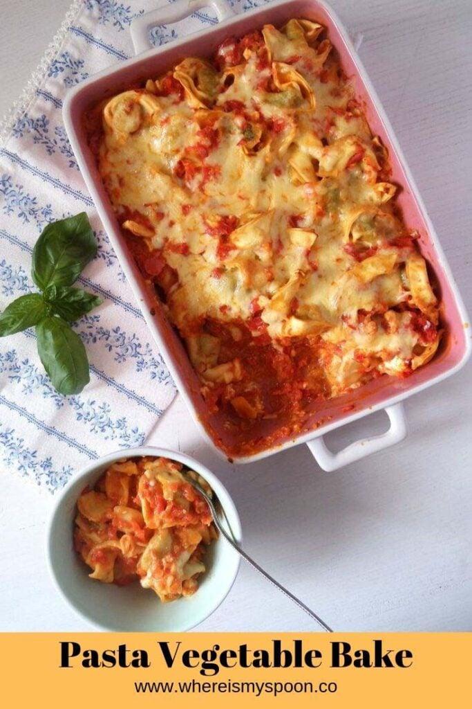 pasta vegetable bake with tortellini
