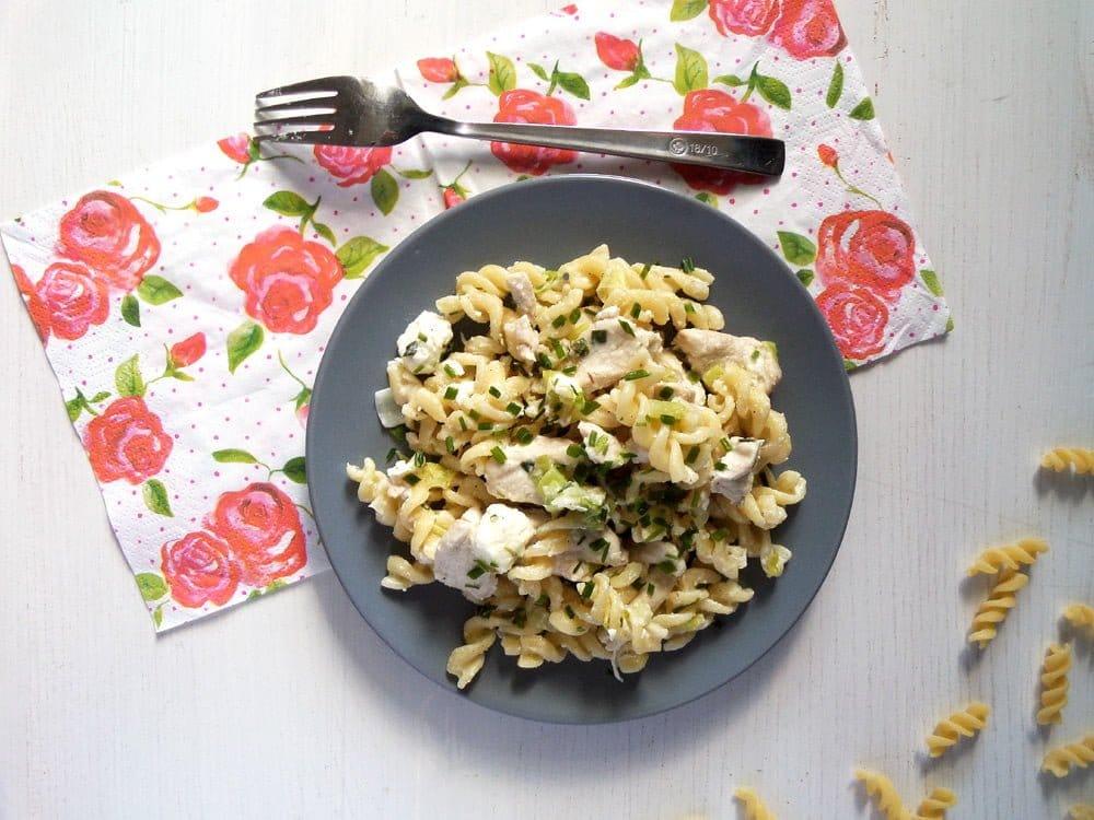 Fusilli with Chicken and Feta