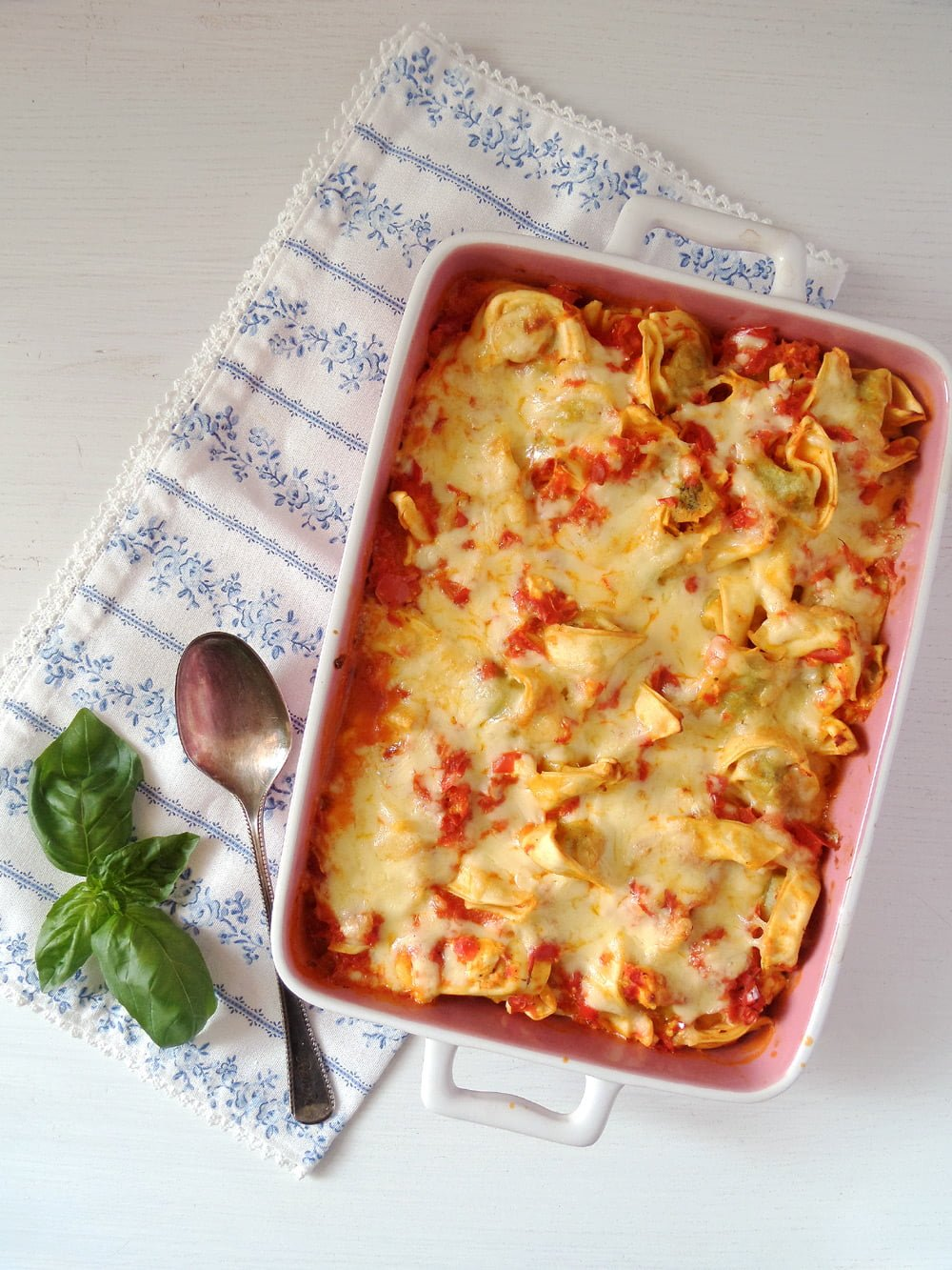 tortellini casserole Easy Cheesy Baked Tortellini Recipe with Vegetables