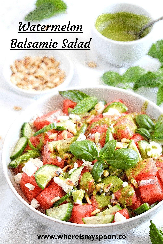 watermelon feta balsamic salad, Watermelon Feta Balsamic Salad