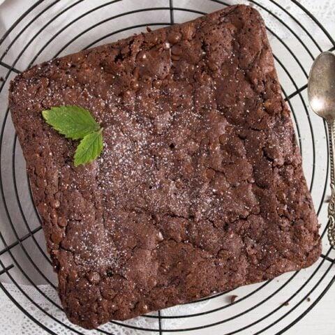 Zucchini Chocolate Brownies with Cashews