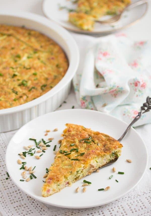 zucchini pie 11 Crustless Zucchini Pie