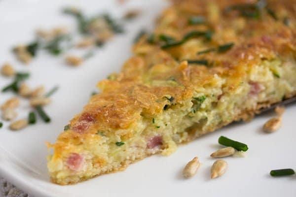 slice of zucchini pie