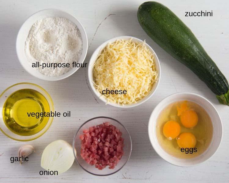 ingredients for zucchini pie