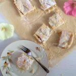 apple slice recipe cut into squares