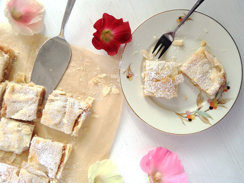apple cake puff Puff Pastry Parcels with Berries and Marzipan