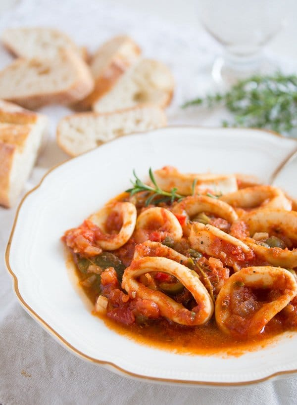 calamari stew 11 Calamari Stew in Tomato Sauce