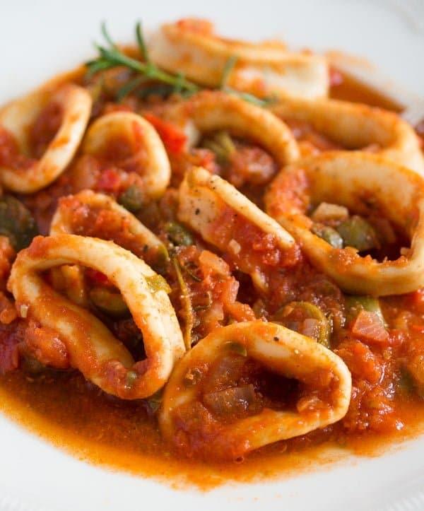 calamari stew 6 Calamari Stew in Tomato Sauce