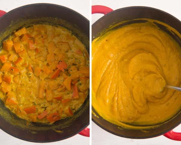how to make pumpkin sauce Creamy Pumpkin Pasta Sauce with Parmesan and Parsley